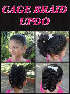 CAGE BRAID UPDO: Crown lace braid and lifted braided ponytail