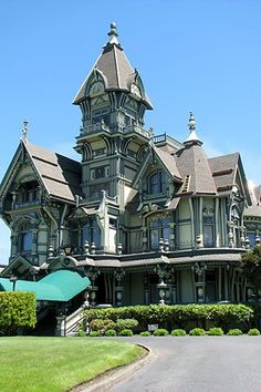 This is the Carson House and its long been one of my favorites.  I love the multiple roof lines and fanciful windows.  The porch is a dream, wasn't present---I'm sure the front door is to die for!