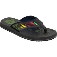 3f768d1966 Sanuk Mens Happy Hour Irie Sandals Rasta Size 8 Sanuk Mens