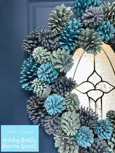 I found this holiday wreath idea in Better Homes and Gardens. Here's how I made my $8 version!