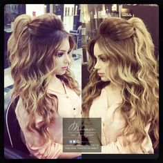 Pin by Marie on Hairstyles in 2019 Long Hair Wedding Styles, Wedding Hair Down, Wedding Hair And Makeup, Bridal Hair, Fancy Hairstyles, Bride Hairstyles, Down Hairstyles, Poofy Hair, Big Hair