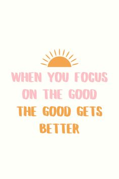 """Positive Quotes Discover """"When You Focus On The Good"""" Printable Quote / Shop Home Decor / Wall Art / Wall Decor / Bedroom The Words, Monday Motivation, Fitness Motivation, Motivation Wall, Cycling Motivation, Positive Quotes, Motivational Quotes, Inspirational Instagram Quotes, Best Quotes For Instagram"""