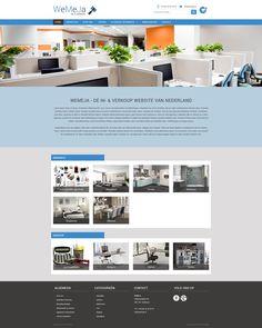 Vandaag is het website ontwerp van WeMeJa goedgekeurd door de klant. Desktop Screenshot, Website