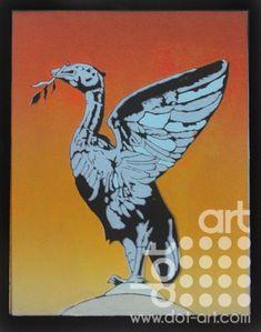 Blue-Liver-Bird-chris-grace Limited Edition Prints, Liverpool, Original Art, Dots, Bird, Animals, Inspiration, Stitches, Biblical Inspiration