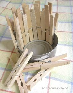 Clothespin Can Art :: Laundry Room Decor :: AnExtraordinaryDay.net
