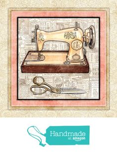 "Sewing Quilting Signed Art Print by Dan Morris 12""x12"" titled Vintage Sewing Machine 4 from Dan Morris Art & Design http://www.amazon.com/dp/B015TTMO0U/ref=hnd_sw_r_pi_dp_pUKgxb1NCK183 #handmadeatamazon"