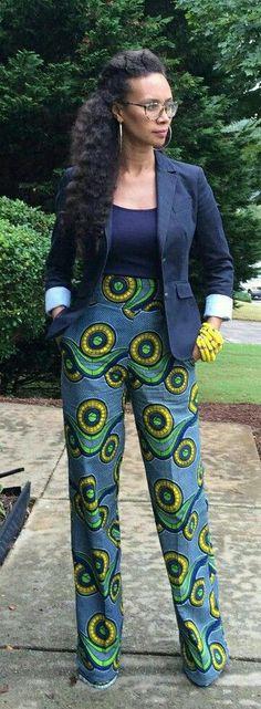 African Fashion African Print Ankara Styles For Women African Print Pants, African Print Dresses, African Print Fashion, Africa Fashion, African Dress, African Prints, African Attire, African Wear, African Women
