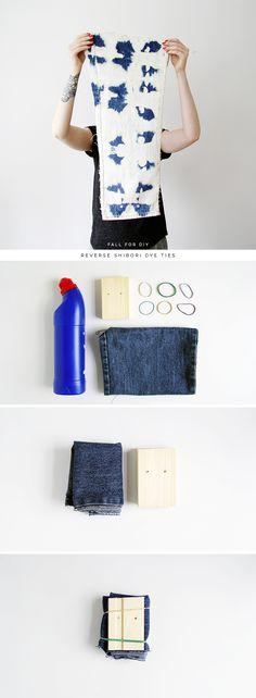 How to Reverse Indigo Shibori / Tie Dye | Fall For DIY