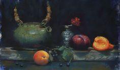 Tea Pot III  by master pastelist Trish Acres