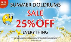 Tres Amigos Has Come Up With Summer Doldrums Sale! 25% Off Everything You Buy