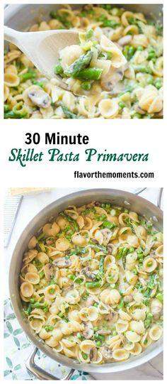 30-minute-skillet-pasta-primavera-collage | flavorthemoments.com