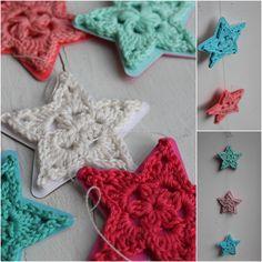 InHaken: Fleurige sterren slinger