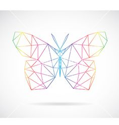 Butterfly abstract vector 2215106 - by yod67 on VectorStock�