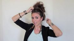 People always ask how I do my messy bun.  This is exactly the way I do it too...but Promise makes hers turn out way better.PROMISES MESSY BUN HAIR TUTORIAL by promise tangeman