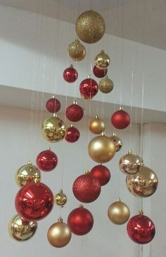 Easy and Affordable Homemade Christmas Decorations – Invisible Christmas Trees- Learn how to make these hanging Christmas trees for easy and affordable holiday decor These are also super fun Christmas crafts kids will love to make Office Christmas Decorations, Hanging Christmas Tree, Homemade Christmas Decorations, Christmas Centerpieces, Christmas Tree Toppers, Christmas Crafts For Kids, Christmas Fun, Christmas Wreaths, Holiday Decor