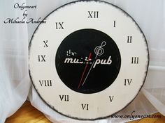 The Music Pub clock - ceas personalizat | Onlyoneart by Mihaela Androne
