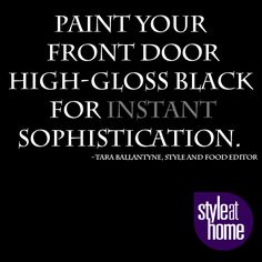 What colour is your front door?