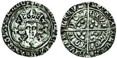 Edward IV (first reign 1461-70), light coinage, 1464-70, Groat, 2.92g, Group Vb, heavy dies, London, m.m. rose/rose, small trefoil on breast in place of fleur on the cusp of the tressure, quatrefoils by neck, rev. eye after tas