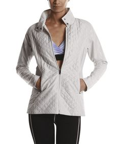 Another great find on #zulily! Bone Quilted Oxford Jacket by Colosseum #zulilyfinds