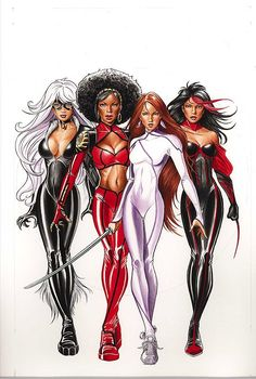 Heroes for Hire (Black Cat, Misty Knight, Colleen Wing & Marvel Comics Marvel Dc Comics, Marvel Art, Marvel Heroes, Spiderman Marvel, Marvel Comic Character, Comic Book Characters, Marvel Characters, Comic Books Art, Female Characters
