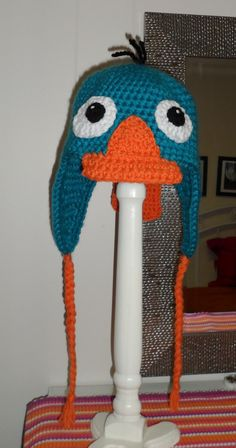 I think I know someone that might beg me to make it for her.  Perry the Platypus, crochet hat