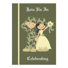 Army Wedding Invitation Black Invitations Affordable Denim