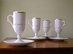 Vintage Restaurant Ware Jackson China Footed Mugs by winkinpossum, $24.00