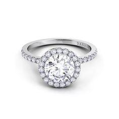 Danhov Per Lei Single Shank Diamond Engagement Ring