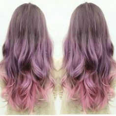 Granny Purple ombre Hair with smocky pink, Amazing hair color
