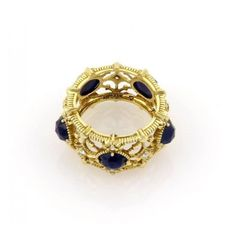 Pre-owned Judith Ripka 18K Yellow Gold Starlight Collection Indian... ($1,450) ❤ liked on Polyvore featuring jewelry, rings, 18k yellow gold ring, diamond band ring, yellow gold sapphire ring, gold sapphire ring and 18 karat gold ring