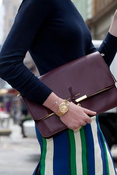 skirt and clutch