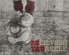 "Soccer ""Believe"" Motivational Poster Original Design #soccer #motivational"