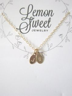 Personalized tiny oval tags necklace
