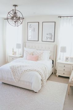chic bedroom decorating ideas for teen girls 43 - Home - Bedroom Decor Stylish Bedroom, Cozy Bedroom, Home Decor Bedroom, Modern Bedroom, Pink Master Bedroom, Bedroom Rugs, Chic Bedroom Ideas, Bright Bedroom Ideas, Elegant Girls Bedroom