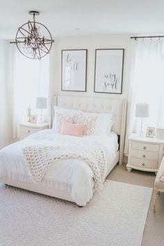 chic bedroom decorating ideas for teen girls 43 - Home - Bedroom Decor Stylish Bedroom, Cozy Bedroom, Home Decor Bedroom, Modern Bedroom, Pink Master Bedroom, Bedroom Rugs, Elegant Girls Bedroom, Pink Bedroom Design, Bedroom Romantic