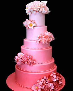 ombre-cake-pink-wedding-cake.jpg (452×563)