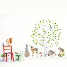 NOVEDAD: Vinilo Infantil 'Bosque Habitado' | Chocovenyl | Bebabe.es