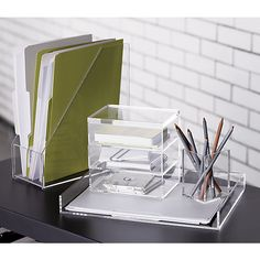 Acrylic Stapler Desk accessories Desks and Acrylics