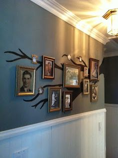 Family Tree - just paint more branches to add more pictures - brilliant!