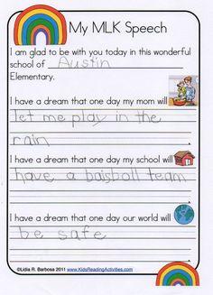 Chalk Talk: A Kindergarten Blog: Celebrating MLK
