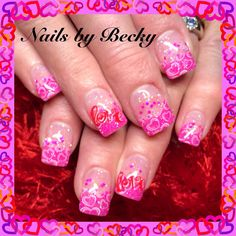 Nails-by-Becky-valentines-sparkle-glitter-pink-hearts-love-white-red
