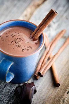 Classic Hot Chocolate doesn't have to be filled with unhealthy fat to taste good. This 'Healthier' recipe is awesome #healthier #hotchocolate