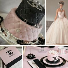 Quinceanera Party Planning – 5 Secrets For Having The Best Mexican Birthday Party Chanel Party, Chanel Birthday Party, Chanel Cake, Invitations Quinceanera, Quinceanera Decorations, Quinceanera Party, Quinceanera Dresses, Sweet 16 Birthday, 15th Birthday