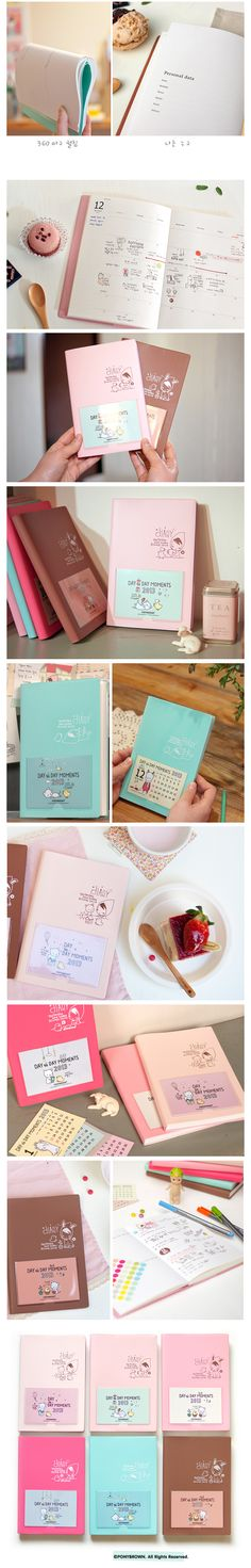 Agenda Pony Brown Day to Day Moments 2013 - Soft Pink + Point Sticker de Regalo!!! Detalle 4