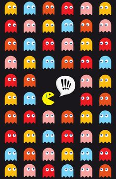 Pac-Man Trapped Art Print by Psocy Shop Atari Video Games, All Video Games, Man Wallpaper, Wallpaper Backgrounds, Iphone Wallpaper, Festa Do Pac Man, Pac Man Party, Trap Art, Retro Arcade