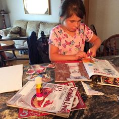 Someone wanted to make her OWN vision board! Monkey see monkey do!