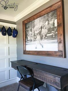 DIY Engineer Print Frame - Shanty 2 Chic - Home Decor ideas &Home Garden & Diy Furniture Plans, Diy Furniture, Furniture Projects, Metal Furniture, Bedroom Furniture, Modern Furniture, Diy Home Decor, Room Decor, Room Art