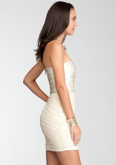 Strapless Banded Top Dress 3