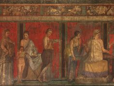 Fresco from the Villa of the Mysteries, 1st C. CE, Pompeii