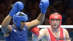 Team GB boxer Anthony Joshua has ensured a golden end to London 2012 with victory in his super-heavyweight bout on the final day of competition.